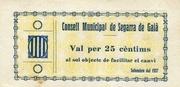 25 Cèntims (Segarra de Gaià) – obverse