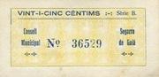 25 Cèntims (Segarra de Gaià) – reverse