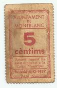 5 Cèntims (Montblanc) – obverse