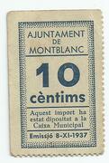 10 Cèntims (Montblanc) – obverse