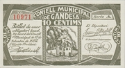 10 Centims (Gandesa) -  obverse