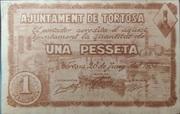 1 Pesseta (Ajuntament de Tortosa) – obverse
