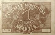 1 Pesseta   (Consell Municipal de Moià) – reverse