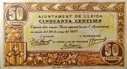 50 Centims (Ajuntament de Lleida) – obverse