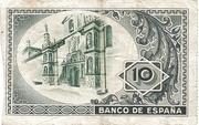 10 Pesetas (Banco de Espana - Bilbao) – reverse