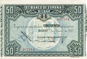 50 Pesetas (Banco de Espana - Bilbao) -  obverse