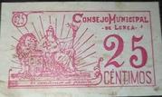 25 Centimos (Consejo Municipal de Lorca) – reverse