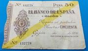 50 Pesetas 1936 Gijón – obverse