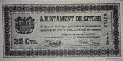 25 Centimos Ajuntament de Sitges – obverse