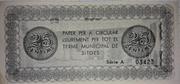 25 Centimos Ajuntament de Sitges – reverse