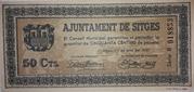 50 Centimos Ajuntament de Sitges – obverse