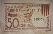 50 céntimos Cabrera de Mataró – reverse