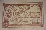 50 céntimos Cabrera de Mataró – obverse