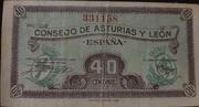 40 céntimos (Consejo de Asturias y León) – obverse