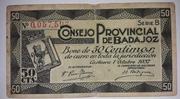 50 céntimos  Badajoz – obverse