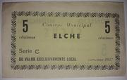 5 Centimos Elche – reverse