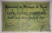 25 Centims  Montagut de Fluvià – obverse