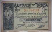 1 Peseta Tortosa – obverse