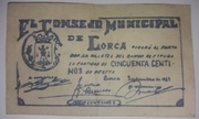 50 Centimos Lorca – obverse