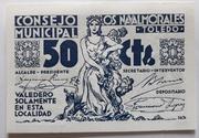 50 centimos    Los Navalmorales – obverse