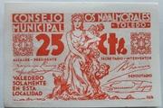 25 centimos    Los Navalmorales – obverse
