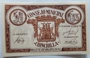 50 centimos    Chinchilla – obverse