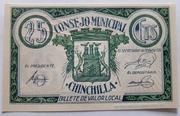 25 centimos    Chinchilla – obverse