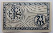 25 centimos    Chinchilla – reverse