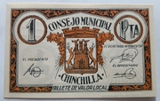 1 Peseta    Chinchilla – obverse