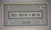 25 Céntimos Mont-ral – reverse