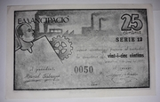 25 Centimos Granollers – obverse