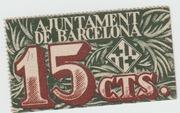 15 Centims (Ajuntament de Barcelona) – obverse