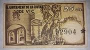 25 Centims  Ajuntament de Vic – reverse