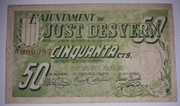 50 Céntimos  Ajuntament de Just Desvern – obverse