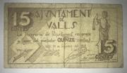 15 Céntimos Valls – obverse