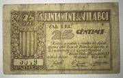 25  céntimos Vilaboi – obverse