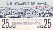 25 centims Ajuntament de Navàs – obverse