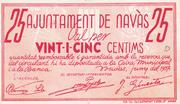 25 centims Ajuntament de Navàs – reverse