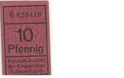 10 Pfennig (Konsum-Anstalt der Kruppschen Gußstahlfabrik) – obverse