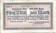 5,000,000 Mark (Essener Steinkohlenbergwerke) – obverse