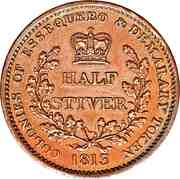 ½ Stiver - George III – reverse