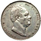 1 Gulden - William IV – obverse
