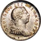 ¼ Gulden - George III – obverse