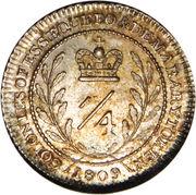 ¼ Guilder - George III – reverse