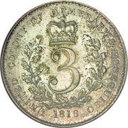 3 Guilder - George III – reverse