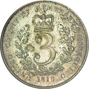 3 Gulden - George III – reverse