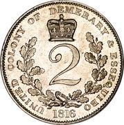 2 Guilder - George III – reverse