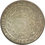 2 Gulden - George III -  reverse