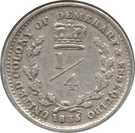 ¼ Gulden - William IV – reverse