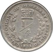¼ Guilder - William IV -  reverse